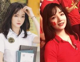 Nữ CĐV Việt từng lên truyền hình Hàn Quốc đẹp tuyệt khi mặc đồng phục
