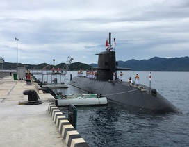 Cảng quốc tế Cam Ranh lần đầu đón tàu ngầm Nhật Bản