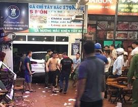 SantaFe lao vào quán nhậu đâm 6 người bị thương