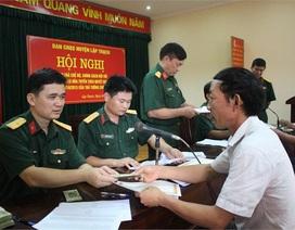 Tăng mức trợ cấp hàng tháng đối với quân nhân đã phục viên, xuất ngũ