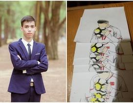 """9X gây sốt với tập tranh flipbook """"Khoảnh khắc Vũ Văn Thanh U23 Việt Nam"""""""