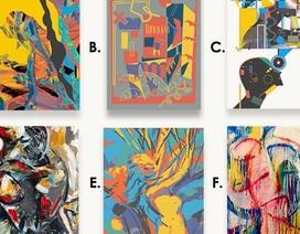 Bức tranh nào dưới đây không phải do con người vẽ?