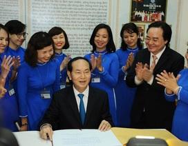 Tình cảm sâu sắc của Chủ tịch nước Trần Đại Quang dành cho báo Dân trí