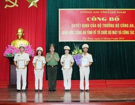Công an tỉnh Hà Nam sắp xếp lại bộ máy