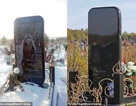 Cô gái yêu cầu dựng bia đá hình... iPhone 6 trên mộ của mình sau khi qua đời