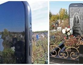 Ông bố chi núi tiền làm bia mộ cao 1,5m hình iPhone cho con gái mất sớm
