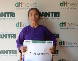 Gần 72 triệu đồng đến với gia đình bà Dương Thị Vọng