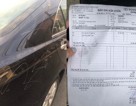 Công an vào cuộc điều tra vụ người phụ nữ sang trọng lén cào xước ô tô