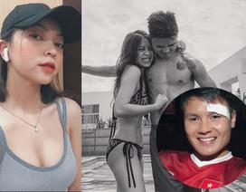 """Bạn gái hot girl """"bốc lửa"""" làm điều bất ngờ và phản ứng của Quang Hải"""