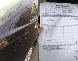 Công an vào cuộc điều tra vụ người phụ nữ lén cào xước ô tô