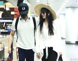 Phạm Băng Băng rạng ngời bên chồng tương lai tại sân bay