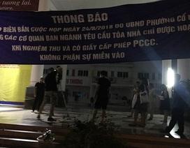 Hà Nội: Hơn 1.000 học sinh khai giảng nhờ vì trường bị đổ đầy cát, gạch
