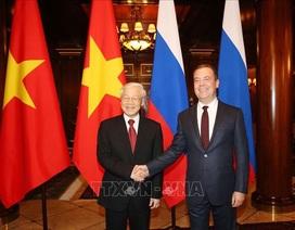 Tổng Bí thư Nguyễn Phú Trọng hội kiến Thủ tướng Nga Dmitry Medvedev