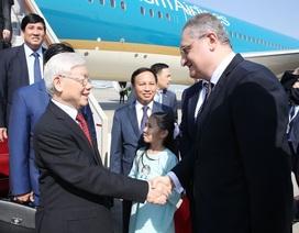 Tổng Bí thư Nguyễn Phú Trọng đến Moskva, bắt đầu chuyến thăm Liên bang Nga