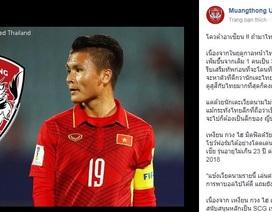 Thêm một CLB Thái Lan muốn có Quang Hải?
