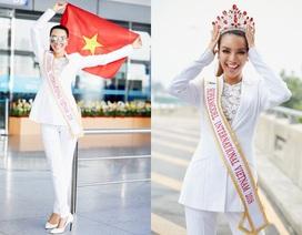 """""""Mỹ nhân sexy nhất châu Á"""" chân dài miên man lên đường thi Siêu mẫu Quốc tế"""