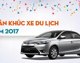 Top 10 mẫu xe du lịch bán chạy nhất Việt Nam năm 2017