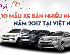 Top 10 mẫu xe bán chạy nhất Việt Nam năm 2017