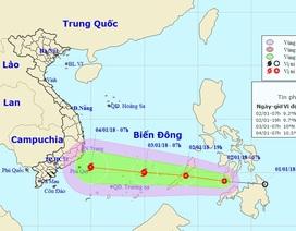 Áp thấp nhiệt đới vào Biển Đông sẽ mạnh lên thành bão