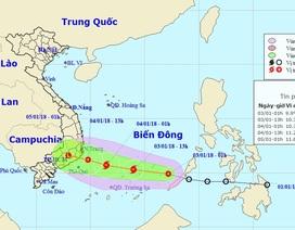 Áp thấp nhiệt đới đã vào Biển Đông, sắp mạnh lên thành bão