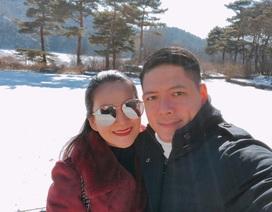 Bình Minh đưa vợ qua Hàn ngắm tuyết sau scandal với Trương Quỳnh Anh