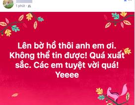 """U23 Việt Nam chiến thắng, mạng xã hội phủ kín lời chúc các """"anh hùng"""""""