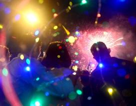 Lung linh đêm pháo hoa chào đón năm mới ở Phố đi bộ Nguyễn Huệ