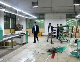 Nổ máy hấp giày, 5 công nhân bị thương