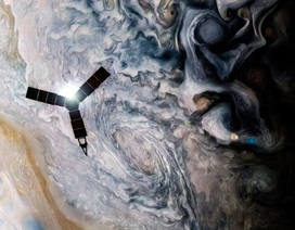 Tàu vũ trụ tỉ đô của NASA ghi được hình ảnh choáng ngợp của hành tinh Jupiter