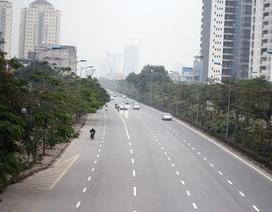 Cảnh đường phố Hà Nội thênh thang trong ngày đầu năm 2018
