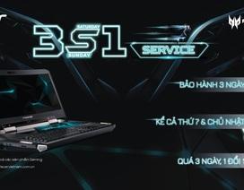 Acer triển khai dịch vụ 3S1 bảo hành 3 ngày kể cả thứ 7, Chủ nhật duy nhất tại Việt Nam