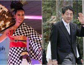 """Thủ tướng Nhật lỡ lộ """"bí mật quốc gia"""" với Hoa hậu hoàn vũ"""