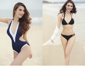 """Vòng eo """"vượt mặt"""" Ngọc Trinh, Tường Linh tự tin sẽ lọt Top 5 Miss Intercontinental"""