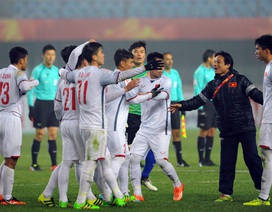 Cầu thủ U23 Việt Nam vỡ òa hạnh phúc sau tấm vé tứ kết lịch sử