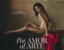 Victoria Beckham lả lơi khoe dáng trên tạp chí Vogue