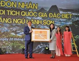 Danh thắng Ngũ Hành Sơn nhận Bằng xếp hạng Di tích Quốc gia đặc biệt