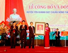 Huyện thứ 3 tại Ninh Bình đạt chuẩn nông thôn mới