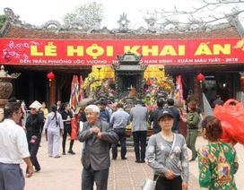Lễ Khai ấn đền Trần: Lắp camera giám sát để phát hiện hành vi phản cảm