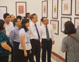 Bạc Liêu lần đầu triển lãm tranh dân gian truyền thống Việt Nam