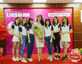 """Á hậu Thùy Dung xuất hiện nền nã trong chương trình """"tiếp lửa"""" cho Miss UEF 2019"""