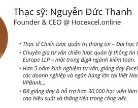 Từ ước mơ đến thành công của CEO đam mê Excel