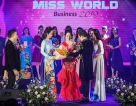 Tô Thị Phượng đăng quang Hoa Hậu Thế Giới Doanh Nhân 2019