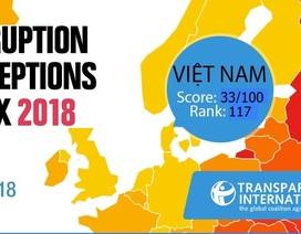 """Chỉ số cảm nhận tham nhũng CPI 2018: Việt Nam """"tụt"""" hạng"""