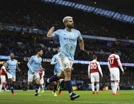 Man City 3-1 Arsenal: Hat-trick của Aguero