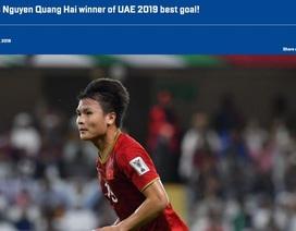 Trang chủ của AFC chính thức công nhận giải thưởng của Quang Hải