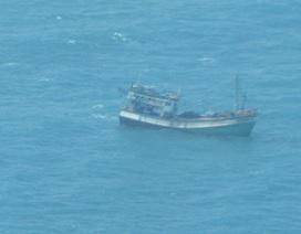 Tàu cá chìm trên biển ngày đầu năm