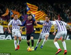 Barcelona 1-0 Valladoilid: Messi ghi bàn và đá hỏng phạt đền