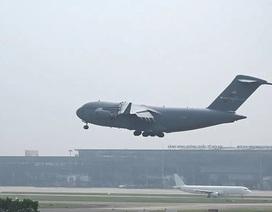 """""""Siêu máy bay"""" Mỹ đến Hà Nội trước thềm Thượng đỉnh Mỹ - Triều"""