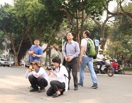 """Phóng viên quốc tế chạy đua """"săn tin"""" trước thềm Hội nghị Mỹ - Triều Tiên ở Hà Nội"""