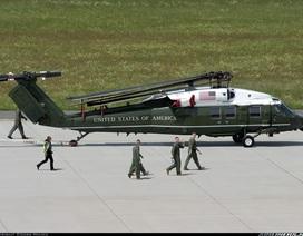 """Phi đội Mỹ kiểm tra """"siêu trực thăng"""" chở Tổng thống tại Nội Bài"""